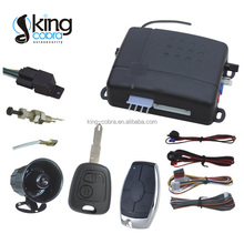For South America built-in shock sensor one way car alarm with remote control