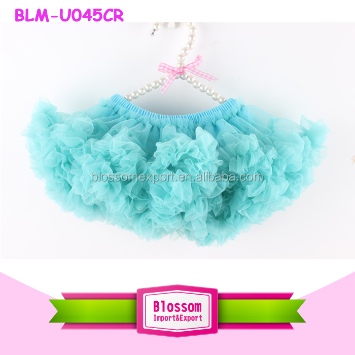 2016 wholesale baby diaper cover ruffle bloomers skirt solid color red petti ruffle tutu skirt bloomers