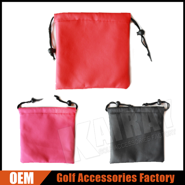 Custom Leather Golf Valuables Pouch Bags Accessories Bags