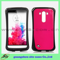 Hybrid pc+ tpu 2 in 1 mobile phone case material plastic for LG G3