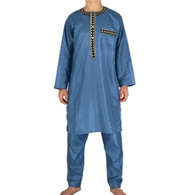 latest <strong>design</strong> 2017 islamic men long sleeve thobe with pants
