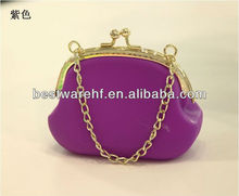 New popular hot sell purple silicone handbag