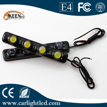 Waterproof 12V 4 LED Daytime Run Light Flexible DRL 3M Glue Car Daylight For All Cars