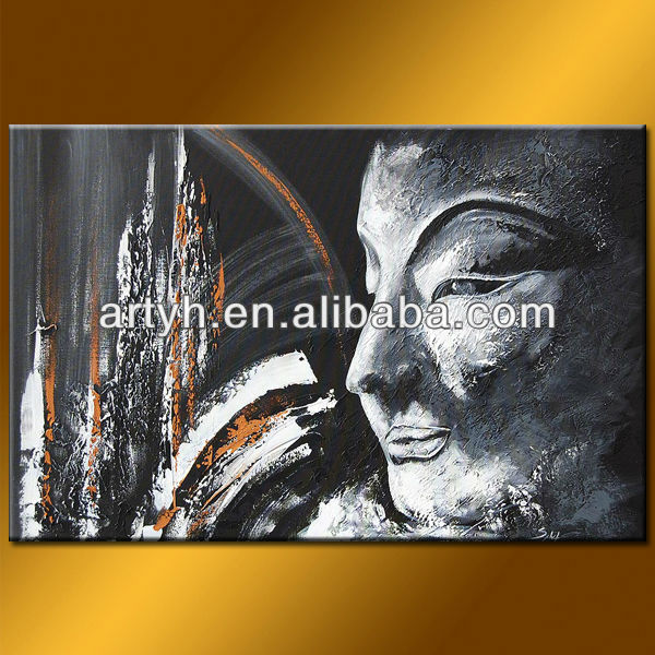 Hot Sell Buddha Face Oil Painting