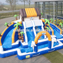 2017 new giant inflatable water park,inflatable water island for sale