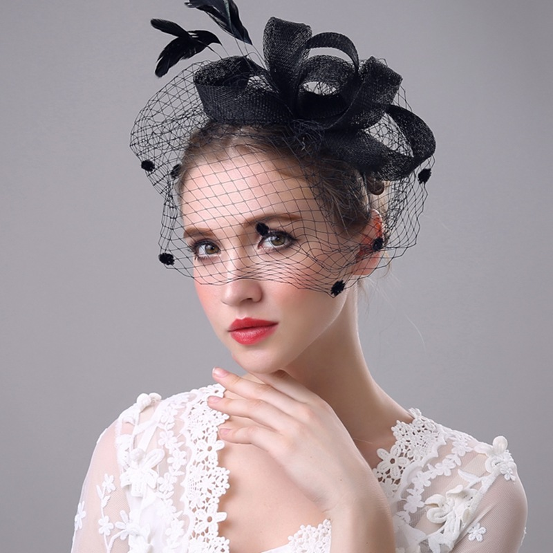 B40076A Ladies fancy fascinator hat hair clip and bowknot hats