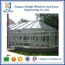 Aluminium frame soundproof prefab outdoor glass room
