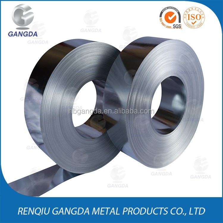 China suppliers galvanized steel strip/coil/sheet/strap cold rolled iron metal for channel