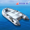 Hider 270-420 cm self pvc plastic inflatable fishing boat with electric motor