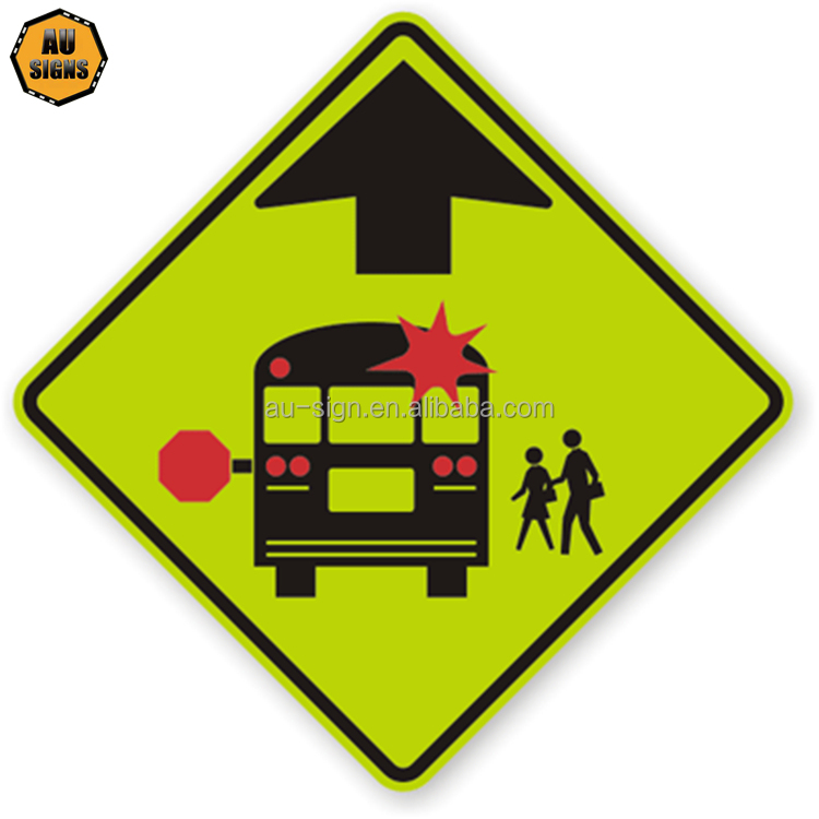 school bus traffic signs and meanings photo
