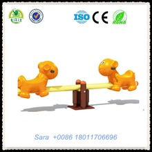 Mini tiger model spring seesaw designs fun games for preschool kids durable outdoor playground euipment QX-18093E