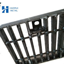 outdoor composite stair treads cross-grid steel grating