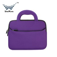 Purple 7.9 inch to 10.1 inch Ultra Portable Cheap Neoprene Laptop Bag with Accessory Pocket