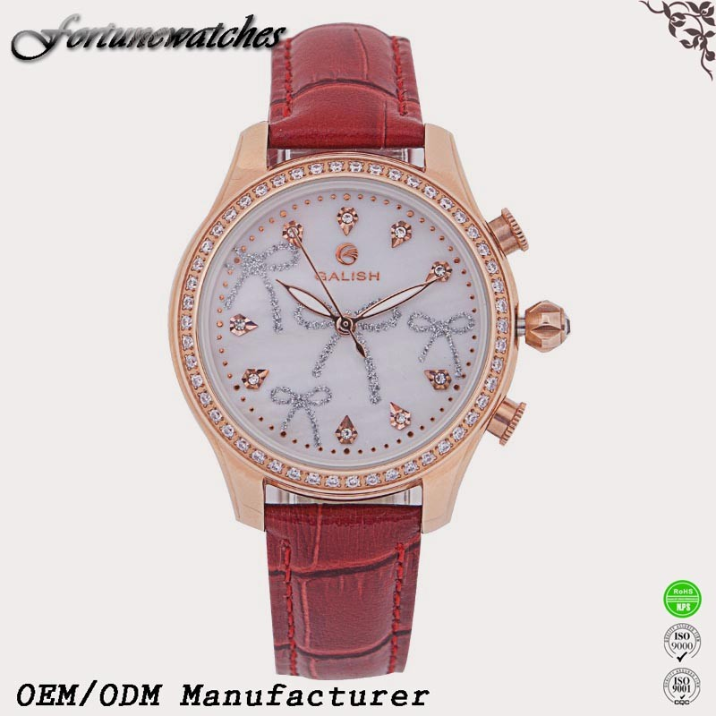 Japan movement fashion ladies leather wrist watches
