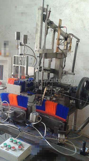 one or two head Broom brush planting making machine