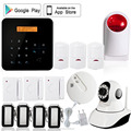 GSM module home security wireless smoke/fire alarm, sms alert alarm system for power failure