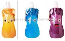 Collapsible Foldable Plastic Water Bottles w/Carabiner 16oz