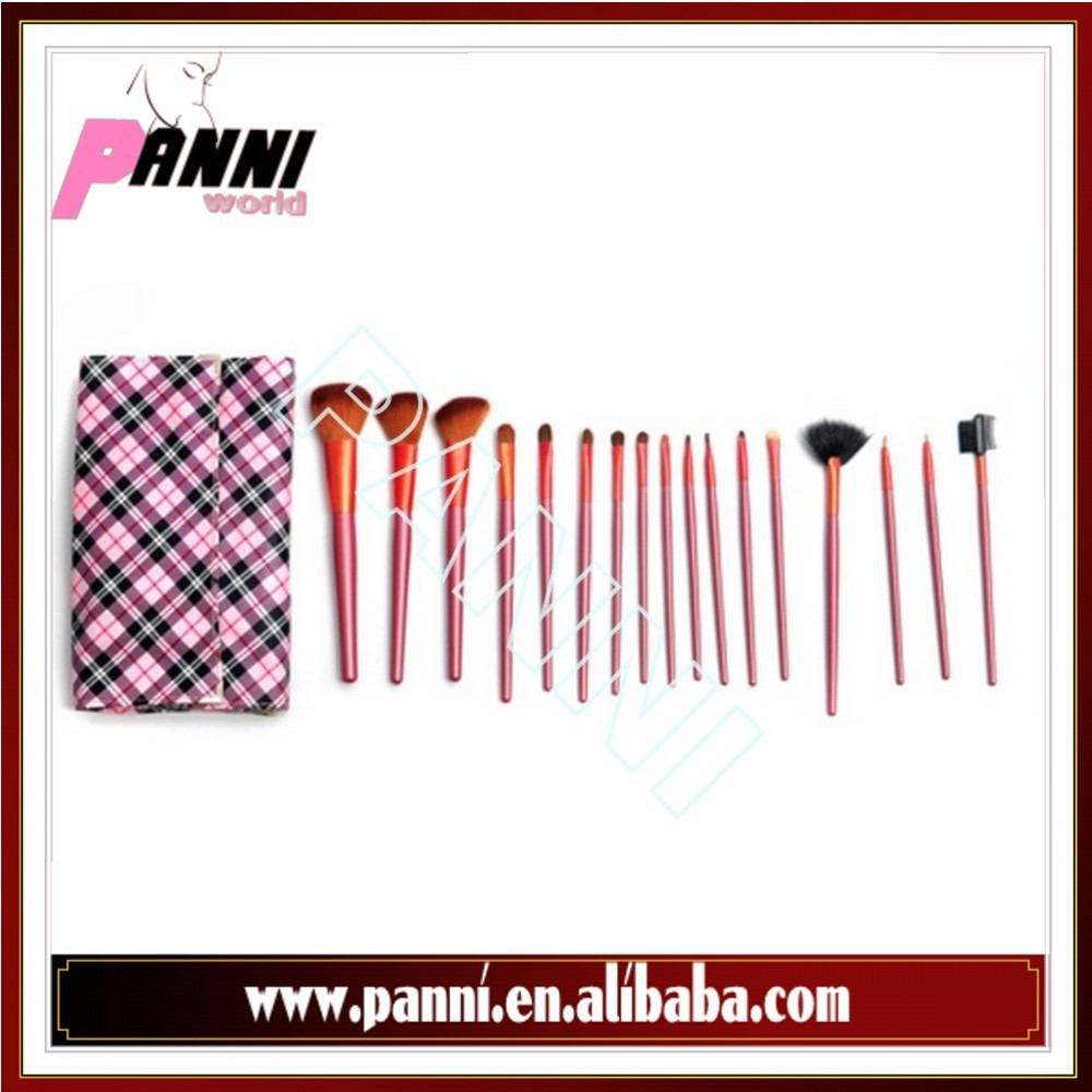 Top quality 18 pcs cosmetic make-up brush set