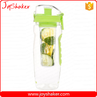 32oz Tritan Plastic Type And LFGB,FDA,CIQ,CE / EU,SGS,EEC Certification Water Bottle Fruit Infuser With Rubber Grip