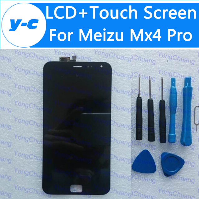 For Meizu MX4 Pro LCD Display+Touch Screen 100% New 2K Digitizer Glass Panel Assembly For Meizu mx4 Pro MTK6595 2560x1536