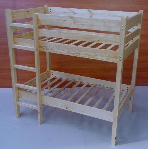 Children Wooden Bunk Bed.