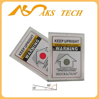 ShockAction Tilt Indicator for Fragile Goods in Transport