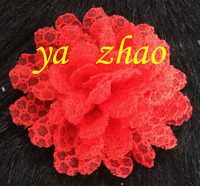 4'' Red Fashion Fabric Flower For Wedding Dress Wholesale IN STOCK