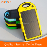 Best Seller 5000 mAh Solar Power Bank For Samsung Galaxy s5 Waterproof Solar Charger With LED Torch Light