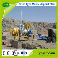 mobile drum asphalt mix plant with coal / oil burner - road machinery