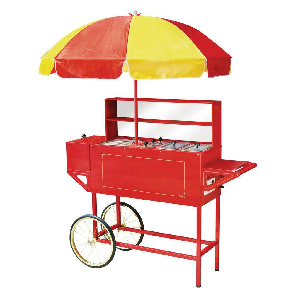 Bike Towing Commercial Hot Dog Mobile Food Vending Cart with Electric Grill For Sale