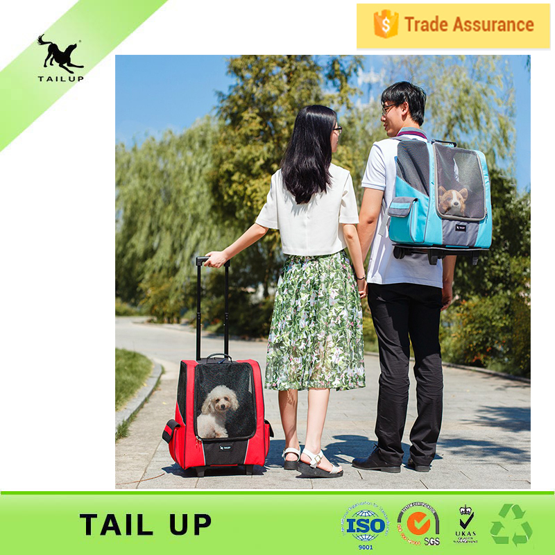 TAILUP Backpack Carrier Bag Dog Luggage Dog Carrier With Wheels
