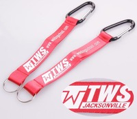 Manufacturer custom high quality short keychain lanyards