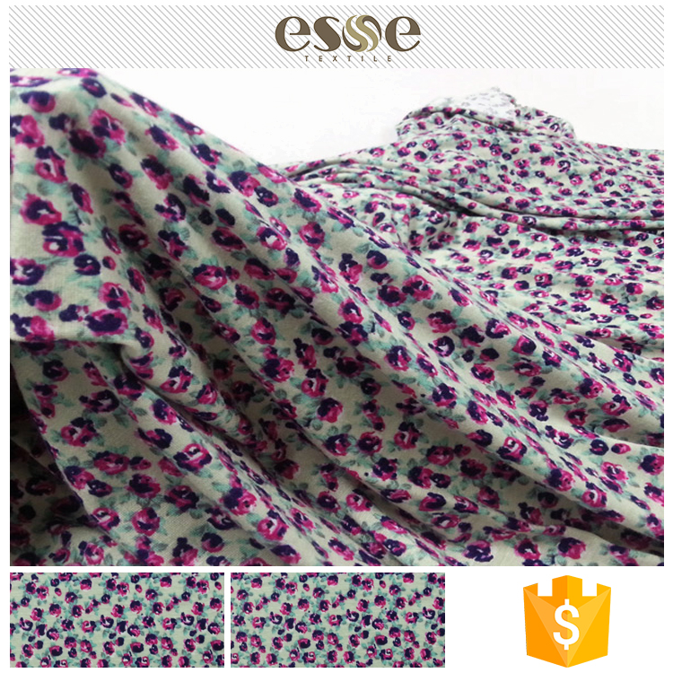 Shaoxing New design knitted 95% rayon 5% spandex custom printed fabric