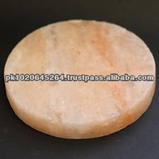 Round Natural Himalayan Rock Crystal Salt Plates for Cooking