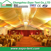 Large clear span wedding party tent design