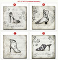 Vintage Style HD Picture Prints Woman High-heeled Shoes Canvas Art for Wall Decor Wholesale