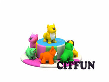 children indoor electric animal Carousel CIT-BT0504