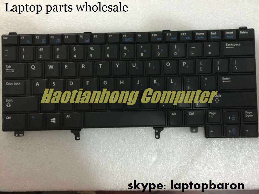 Wholesale English keyboard for Dell E5420 E6420 laptop internal backlit keyboard with embed numeric keypad and point sticker