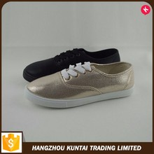 High quality durable using new fashion cheap quality promotional lady canvas shoes