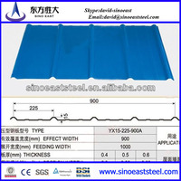 Hot sale!!! sea blue metal roofing sheet design/pre-painted corrugated roofing steel sheets for roofing system