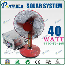 High efficient portable green energy product 40W solar panel with TV and fans