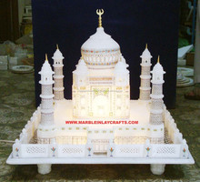 Natural White Marble Taj Mahal Model, Marble Taj Mahal Sculpture