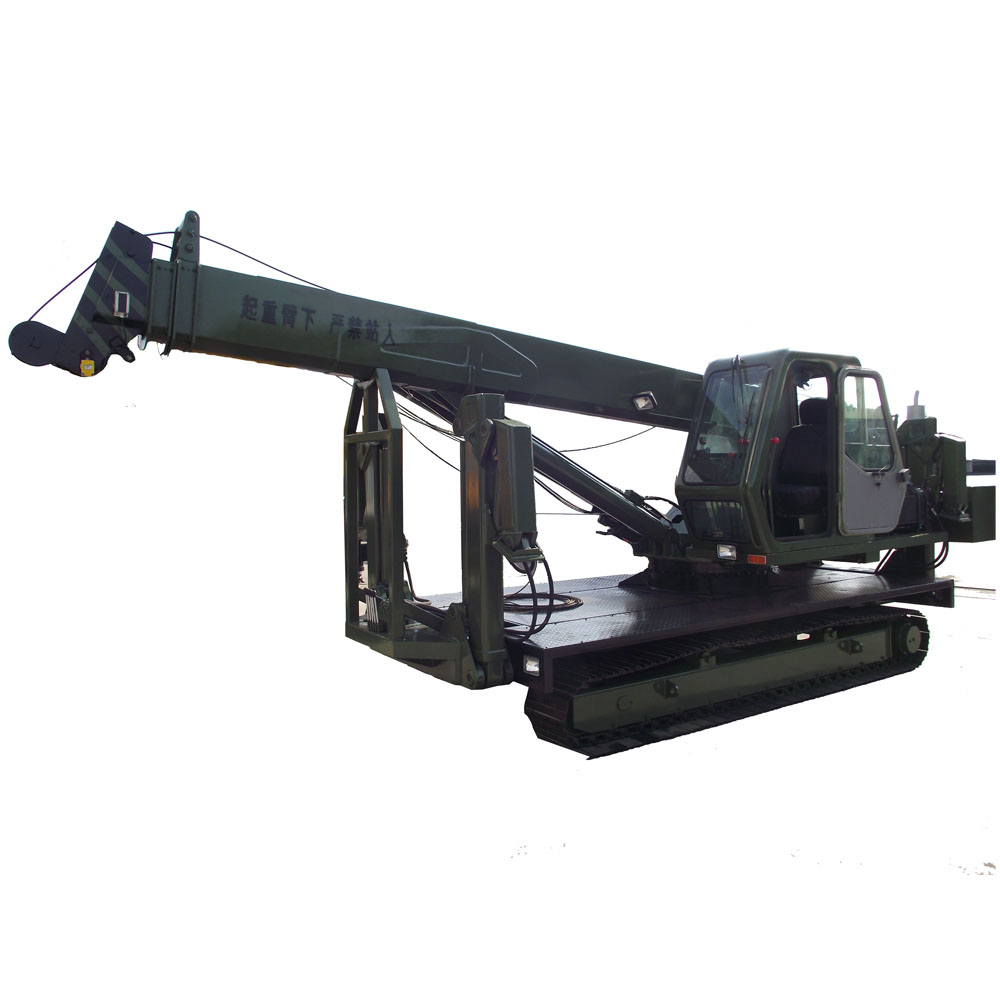 Hydraulic operating system 5 ton crawler crane