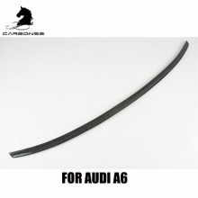 S6 TYPE FOR AUDI A6 C7 REAL CARBON FIBER CAR BOOT WING SPOILER 2012+