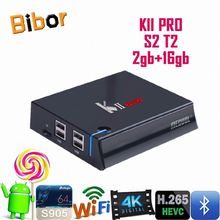 Car dvb-t2 S905 KII PRO s2 t2 tv box amlogic s905 4k 64 bits quad core dvb s2 android tv box made in China google play store