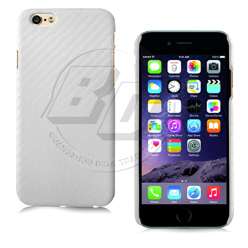 Carbon Fiber White Case For Apple iPhone6 6 Plus Luxury Hard Back Cover For iPhone 5C 5S 5