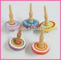wood spinning top