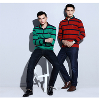 high quality custome stand collar long sleeve 100% pure cotton comfortable men polo t shirt