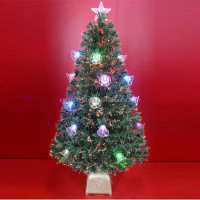 Fiber Optic Christmas Trees as Christmas Decorations