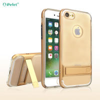 Newest 2 In 1 TPU PC Clear Back Phone Case With Kickstand For iPhone 6/s
